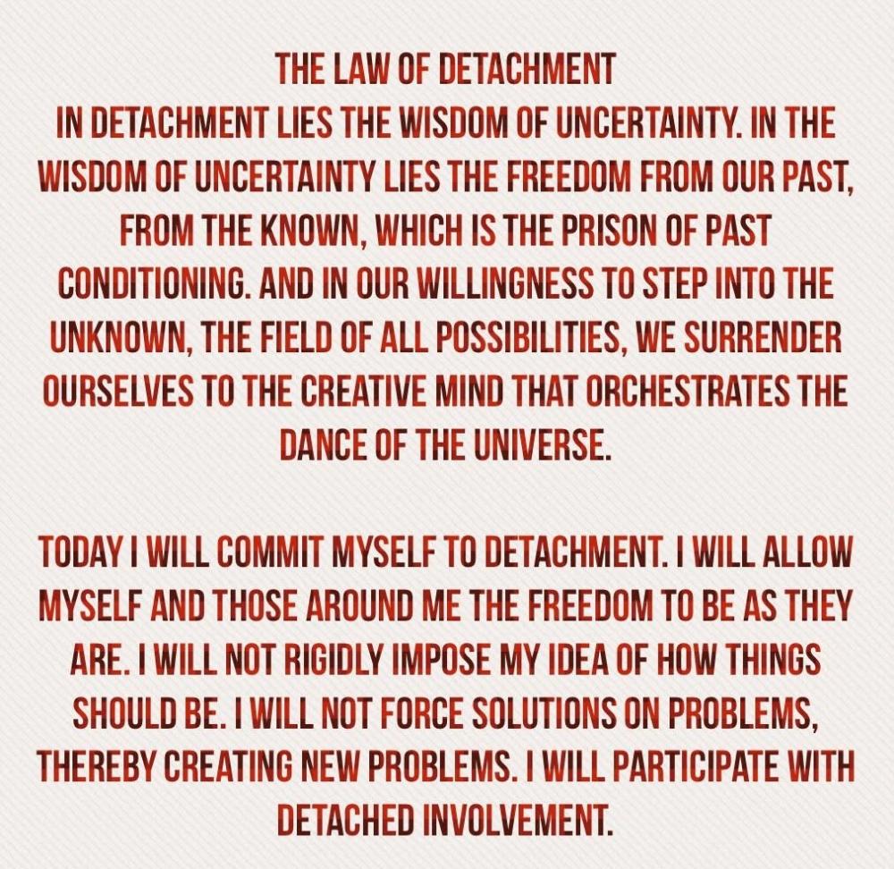 law of detahcment